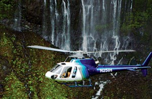 Chopper over Kauai's grandeur!