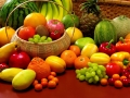 fruit and vegetables - table - large